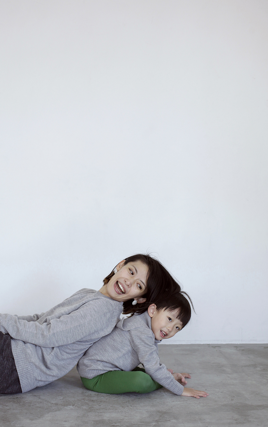 Camphor カンフル ニット knitwear kids こども 子供服 familysweater 日本製 madeinjapan
