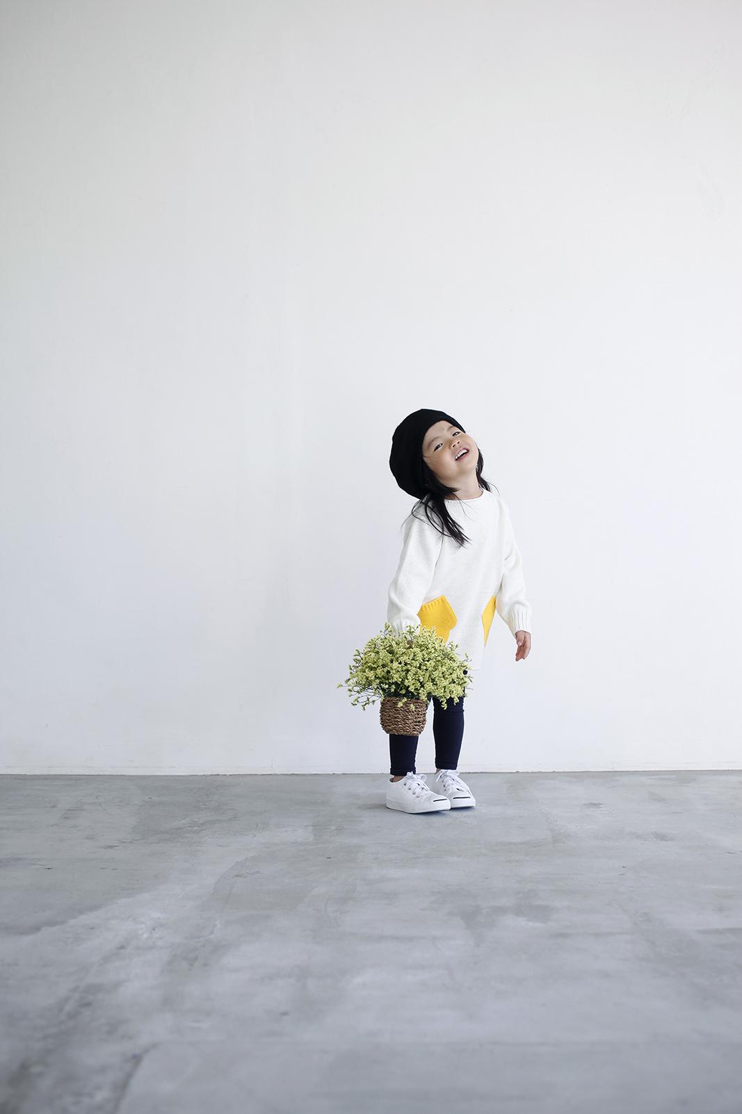 Camphor カンフル ニット knitwear kids こども 子供服 mittensweater 日本製 madeinjapan