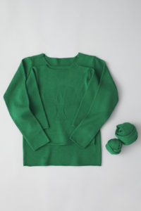 """friendly knit"" camphor sweater mother green"