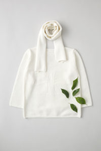 """friendly knit"" camphor sweater white"