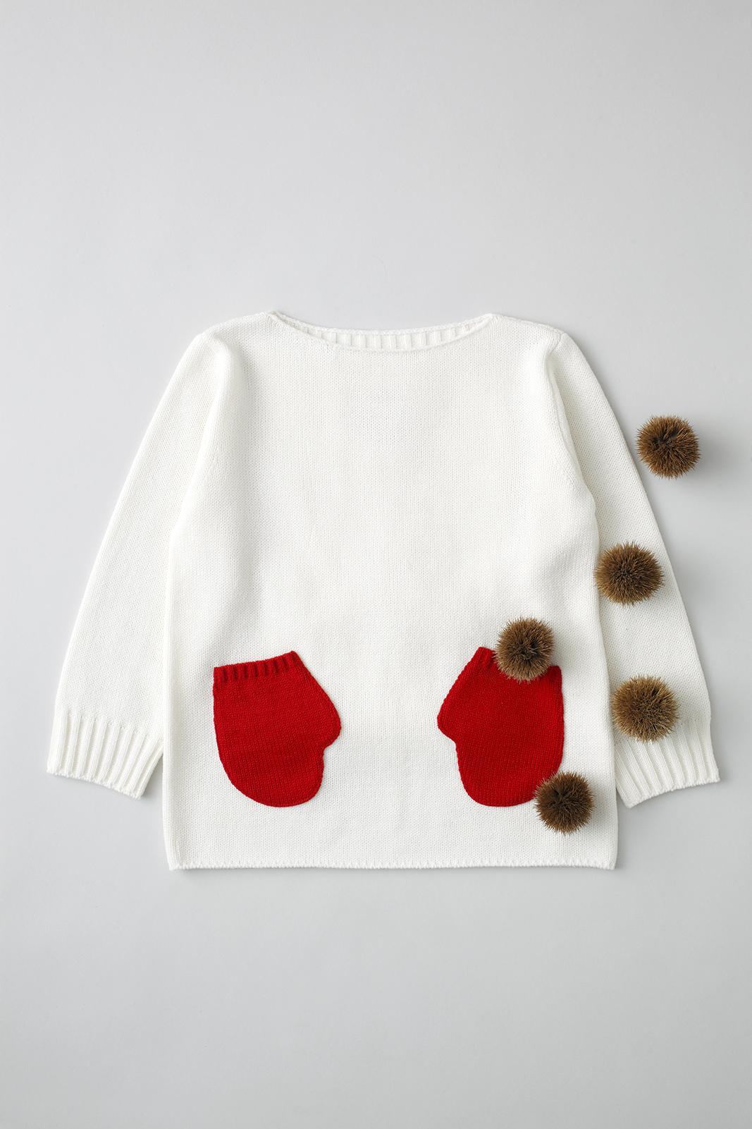 Camphor カンフル ニット knitwear kids こども 子供服 mittensweater